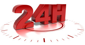 24-Hour-Red-Clock